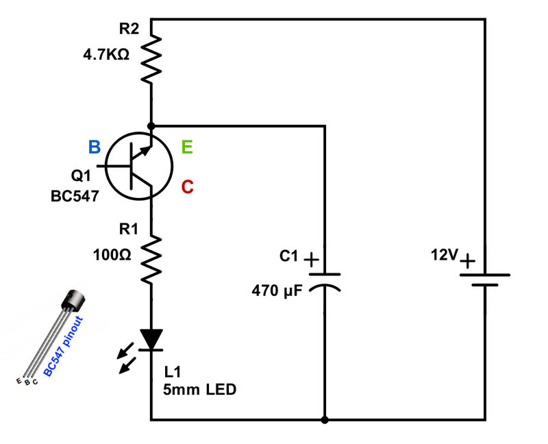 Blinking Led Circuit Diagram Wiring Diagram