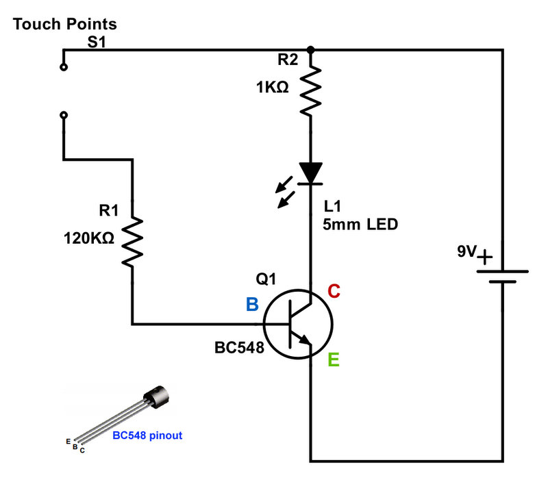 basic breadboard circuit