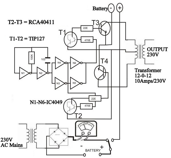 block diagram inverter