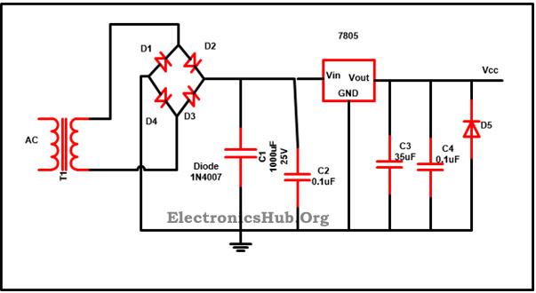 schematic diagram voltage regulator