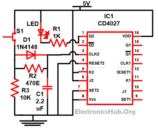 J K Flip Flop Circuit Diagram Wiring Diagram