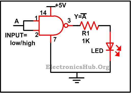 circuit diagram of and gate using transistor