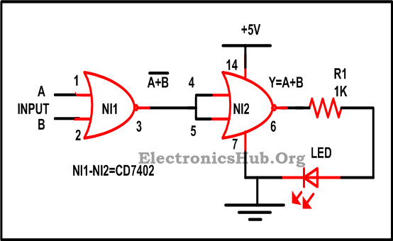 Design of Basic Logic Gates using NOR Gate NOT, OR and AND Gates