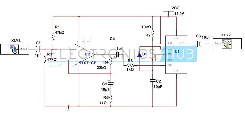 555 Timer as an Amplifier Low Power Audio Amplifier using 555 Timer