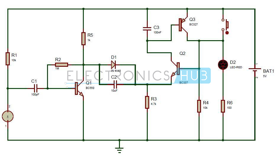 Puff to OFF LED Lights Circuit Working and Applications