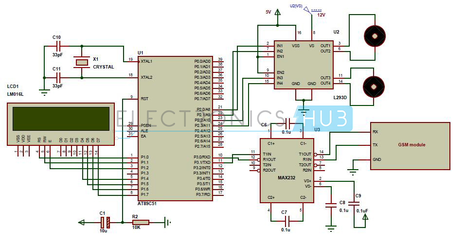 GSM Mobile Controlled Robot using 8051 Microcontroller