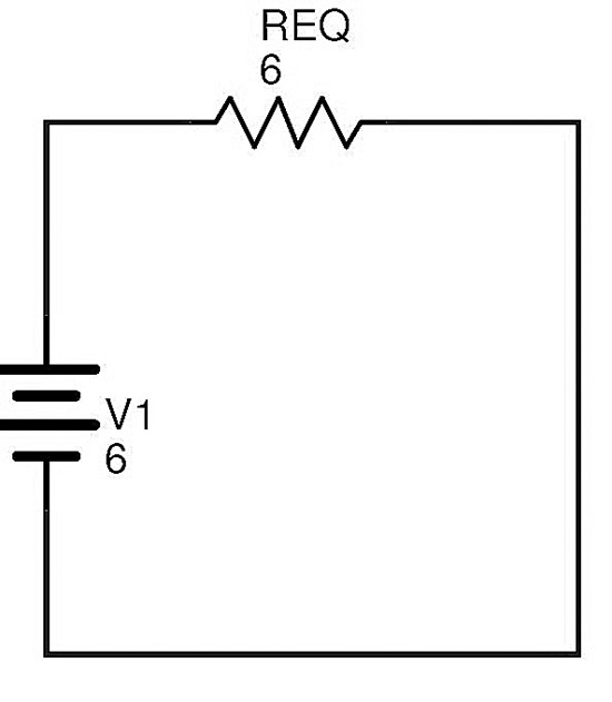 so we can replace both resistor r 2 and r 3 above with a single