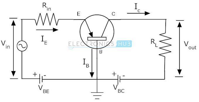 circuit diagram npn transistor