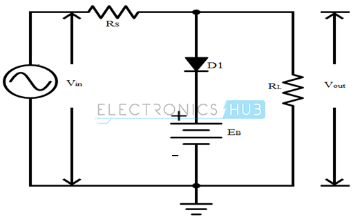 two shunt diode clipper circuits