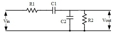 rc bandpass filter circuit diagram