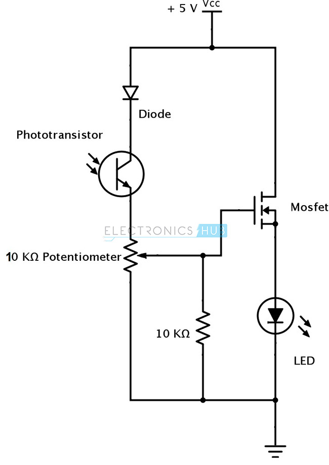 IR (Infrared) Obstacle Detection Sensor Circuit