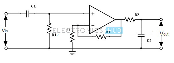 low pass filter diagram