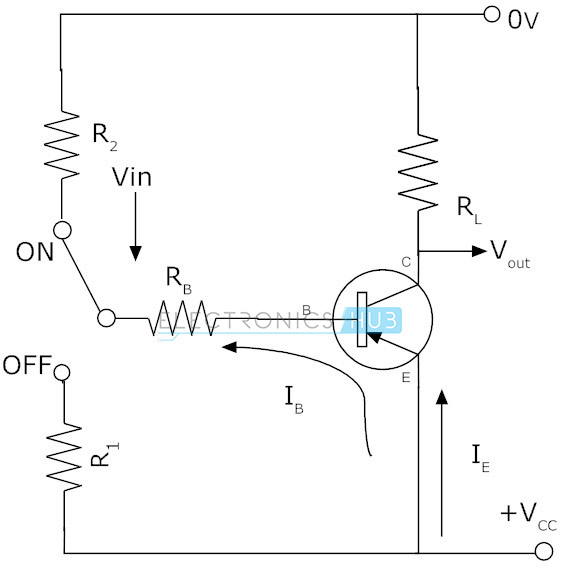 npn transistor circuit working characteristics applications