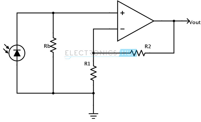 the circuit of photodiode in photoconductive mode is shown below