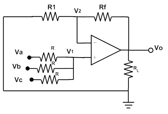 inverting and non inverting summing amplifier voltage adder