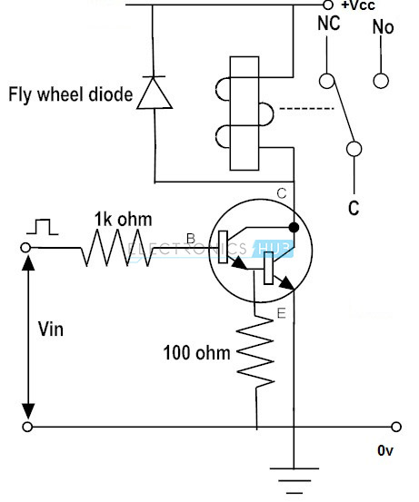 transistor relay switch circuit