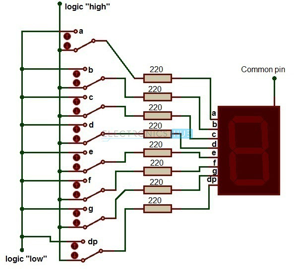 7 Segment Display Pin Diagram Wiring Diagram