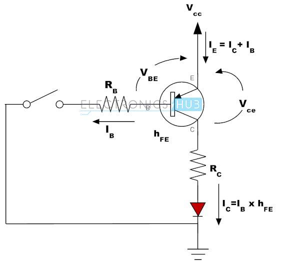 pnp transistor switch circuit