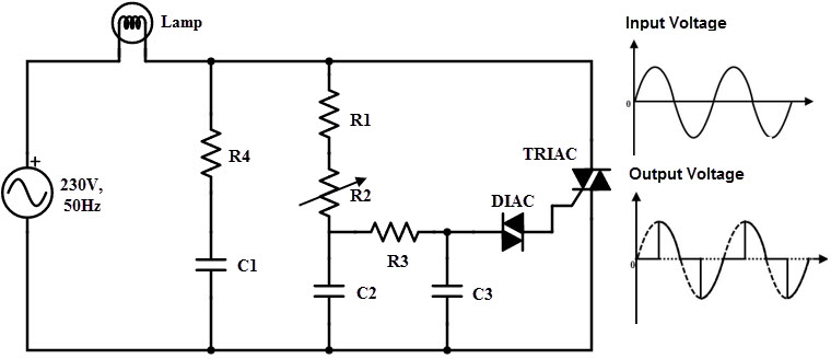 triac light dimmer circuit diagram