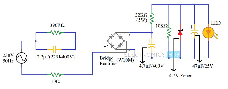 Led Ac Circuit Diagrams - Wiring Diagram Progresif