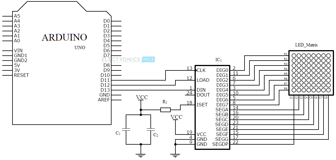 arduino 82158 led matrix