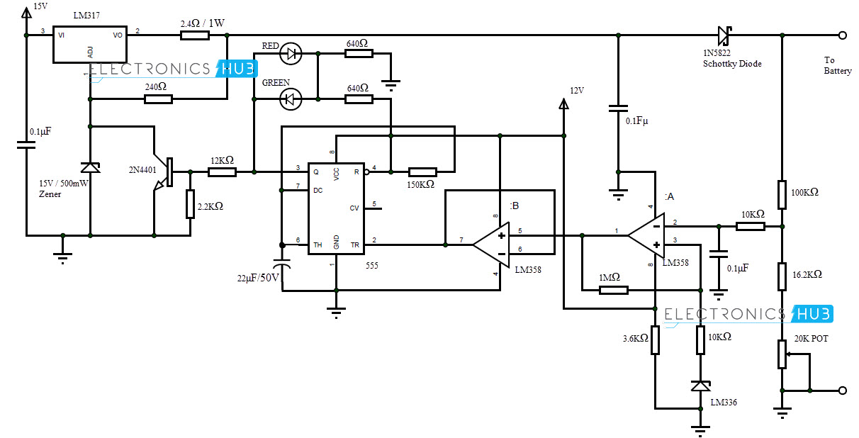 sla battery charger circuit schematic