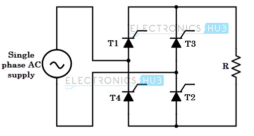 full wave rectifier circuit diagram and output