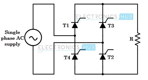 single phase ac circuit diagram