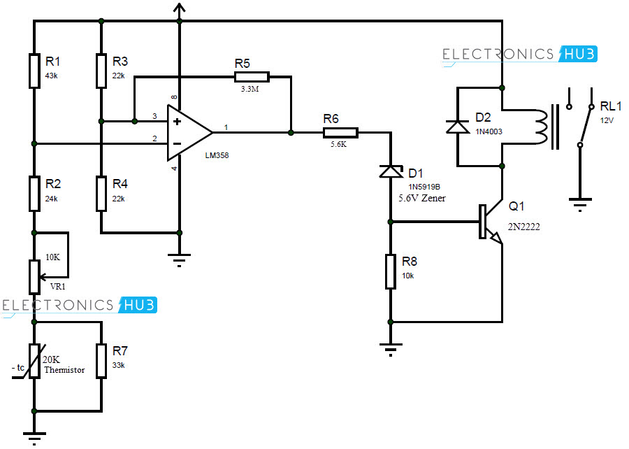 motor thermistor circuit diagram