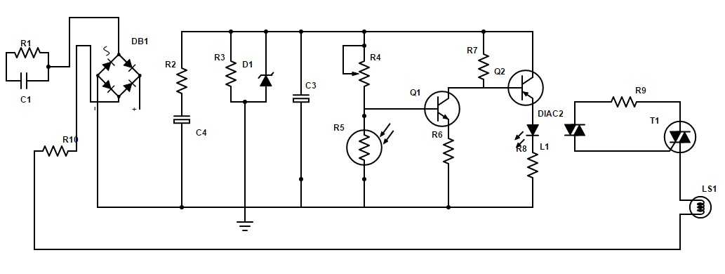 auto night lamp circuit