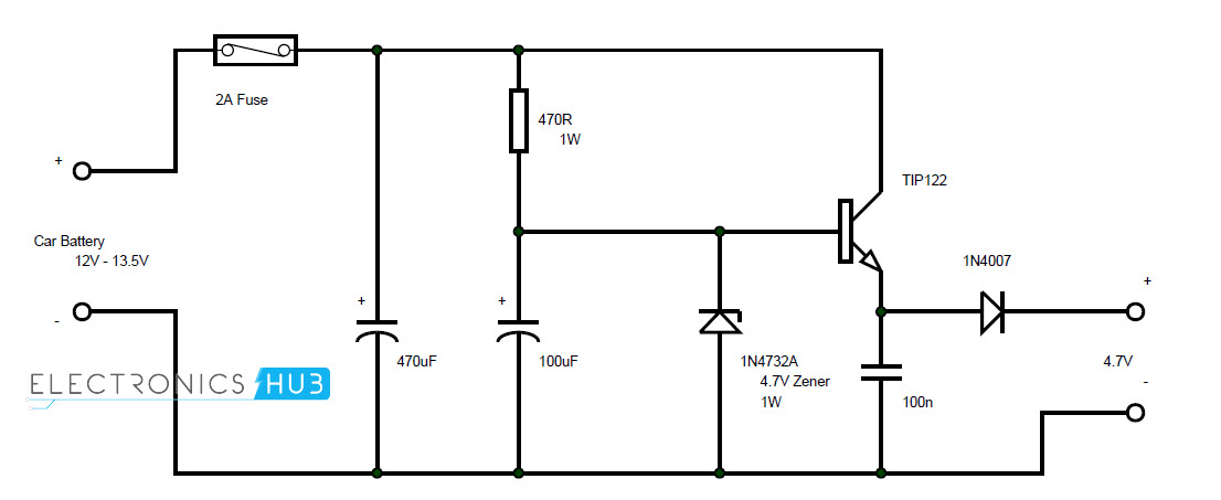 voltage across components in a series circuit there is a battery