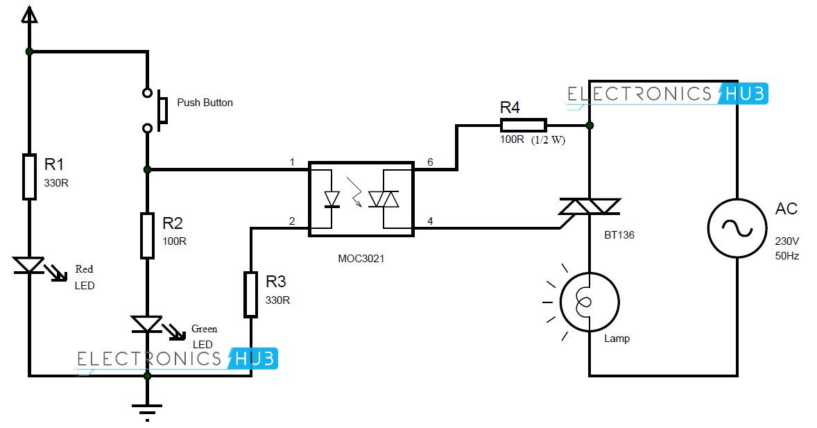 Ac Relay Circuit car block wiring diagram