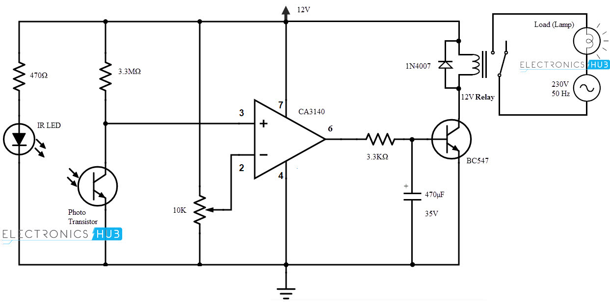 automatic light switch circuit diagram