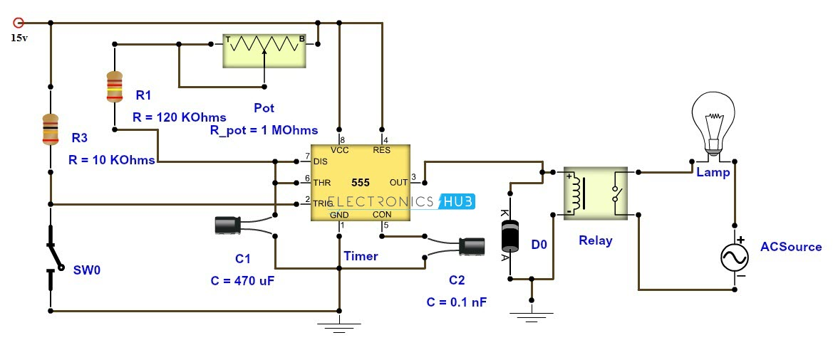 Make Timer With 10 1000 Seconds Adjustable Time Delay And Spdt Relay