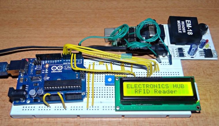 figure 1 arduino rfid reader circuit diagram