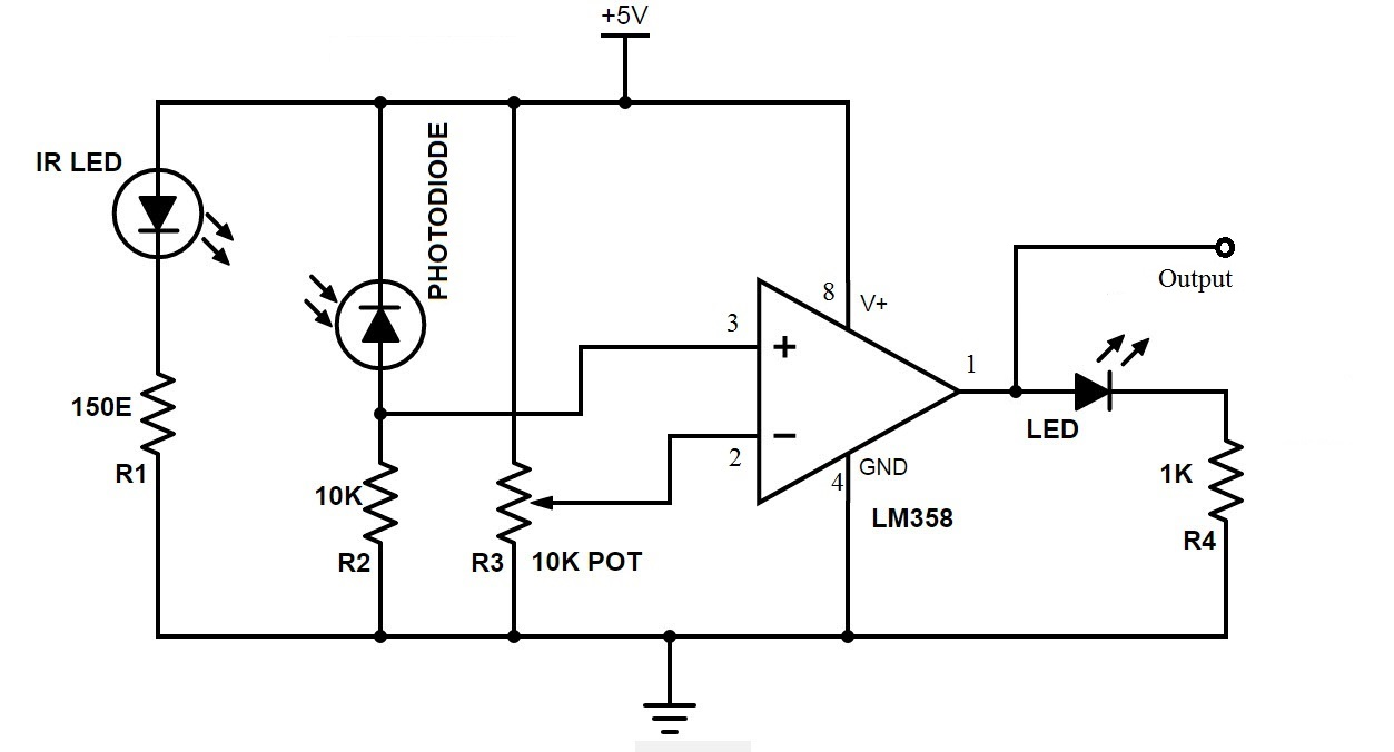 circuit diagram ir sensor