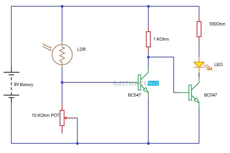 L D R Circuit Diagram Wiring Diagram