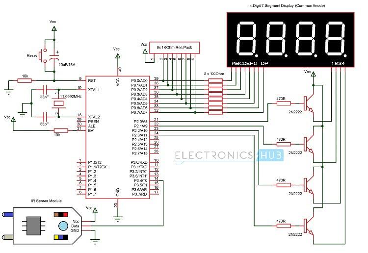 circuit diagram of 8051 development board