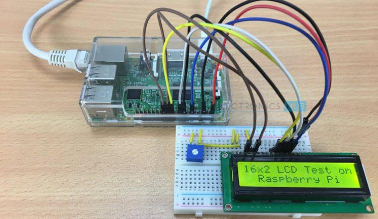 Interfacing 16x2 LCD with Raspberry Pi using Python