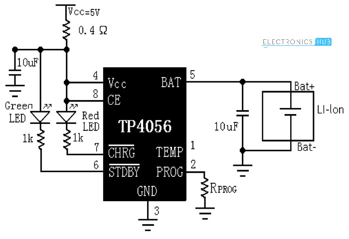 lithium ion battery charger circuit schematic