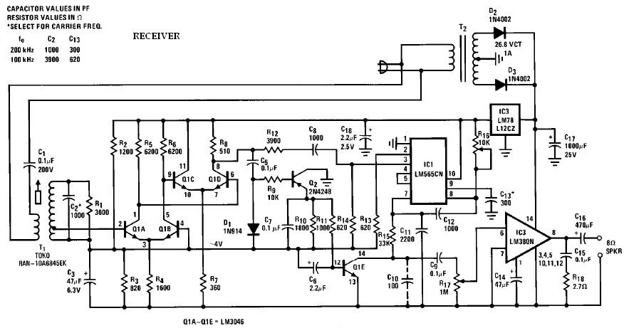 Speaker Schematic Index listing of wiring diagrams