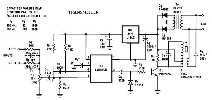 wireless speaker system receiver circuit using lm565 lm566 images