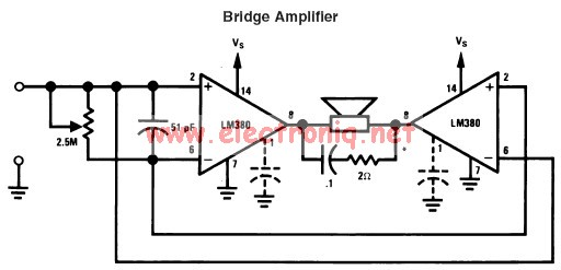 lm380 simple 2 watts audio amplifier