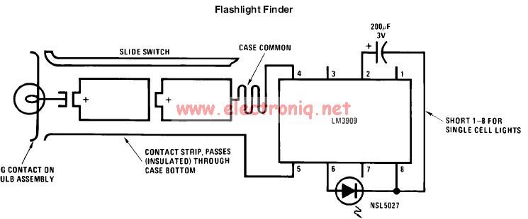 led flashlight schematic diagram
