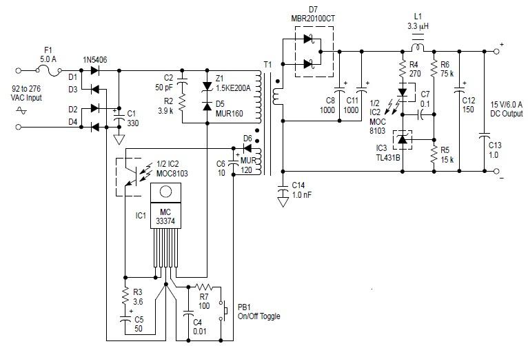 switch mode power supply diagram wiring