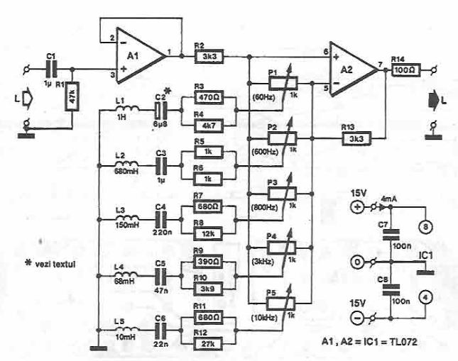band audio equalizer circuit