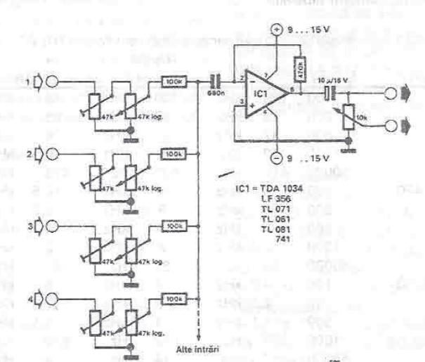 Basic Audio Mixer Using Opamp Simple Circuit Diagram Index listing