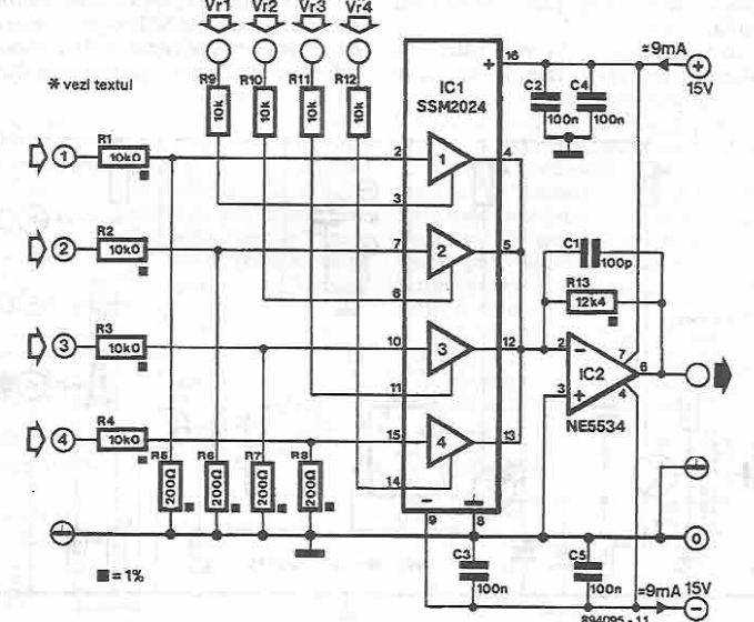 Channel Audio Mixer Circuit Diagram Electronic Project Index