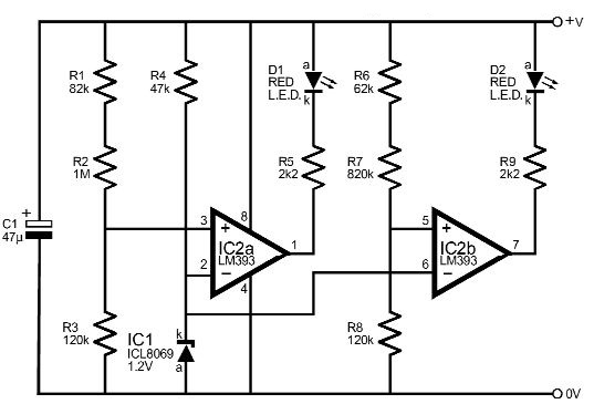 voltage monitor electronic circuit diagram
