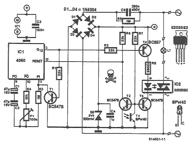 phototransistor circuit circuit diagram of sensitive